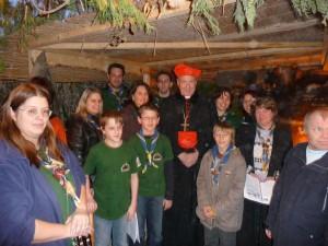 Wir mit Kardinal Schönborn